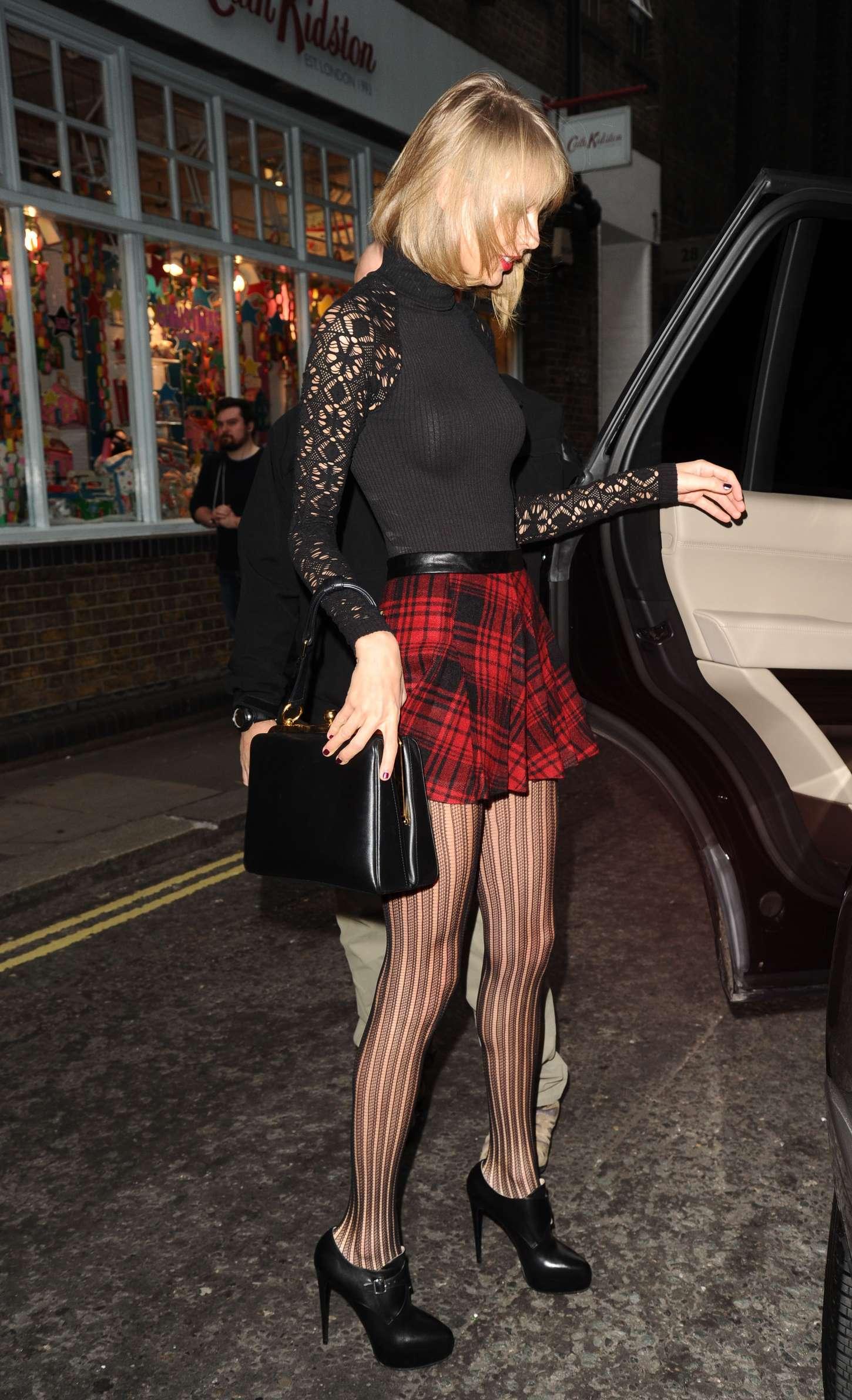 Taylor Swift 2014 : Taylor Swift in Mini Skirt at Cath Kidston -07
