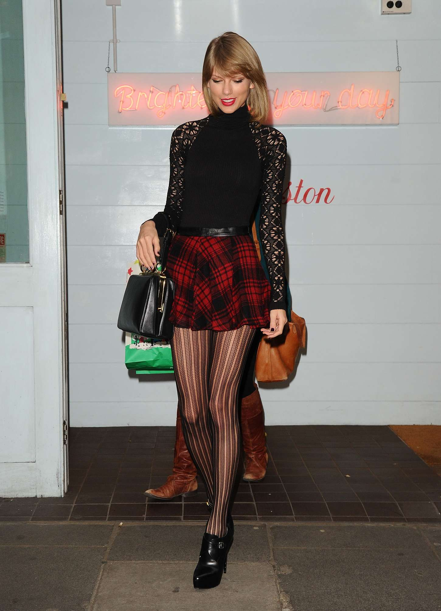 Taylor Swift 2014 : Taylor Swift in Mini Skirt at Cath Kidston -09
