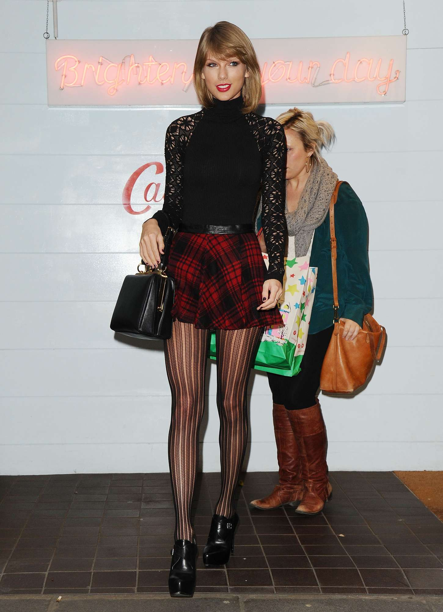 Taylor Swift 2014 : Taylor Swift in Mini Skirt at Cath Kidston -12