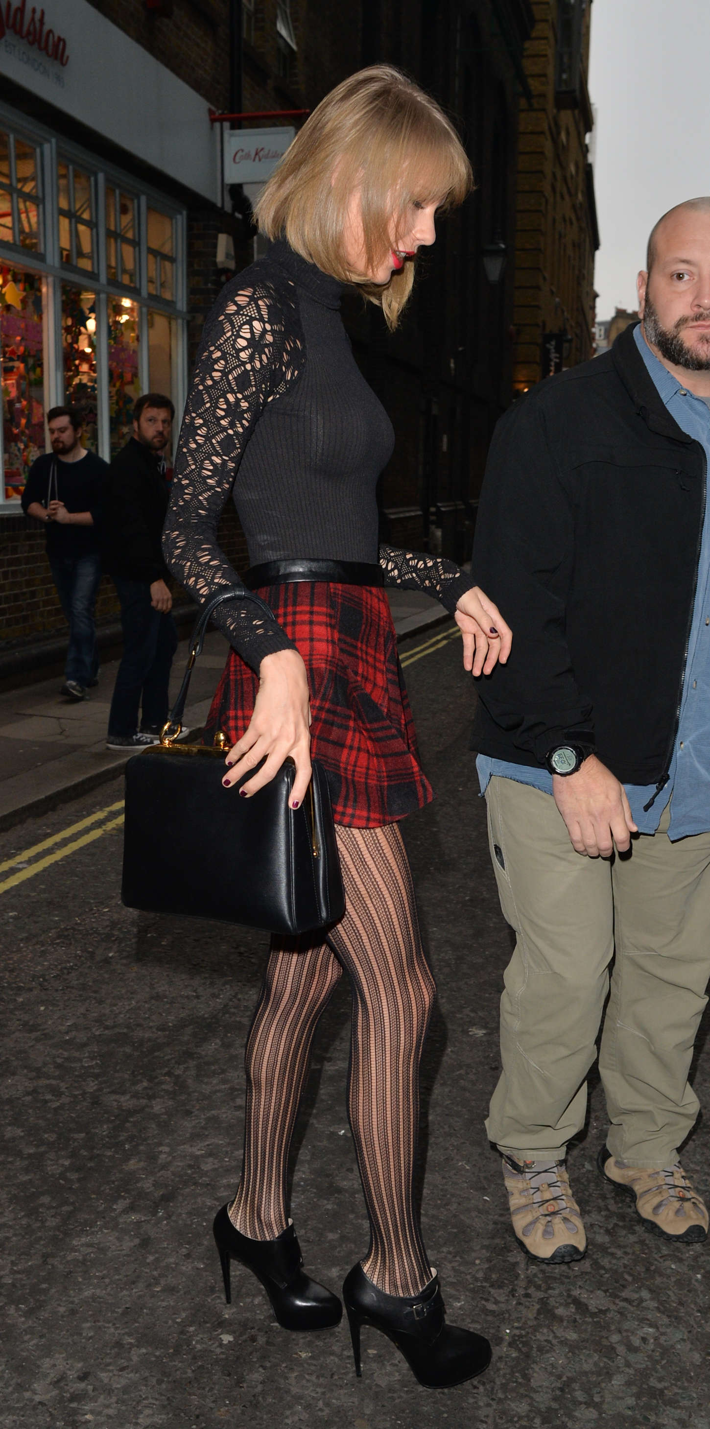 Taylor Swift 2014 : Taylor Swift in Mini Skirt at Cath Kidston -21