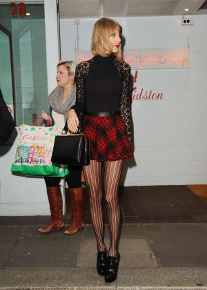 Taylor Swift in Mini Skirt at Cath Kidston -27