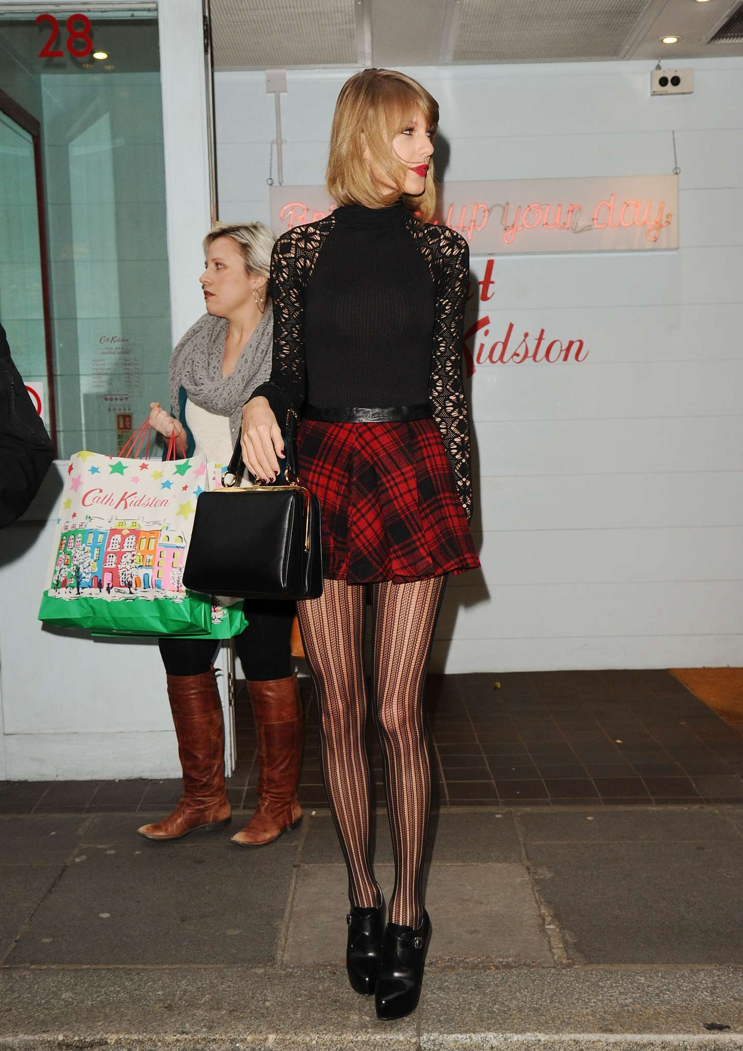 Taylor Swift 2014 : Taylor Swift in Mini Skirt at Cath Kidston -27