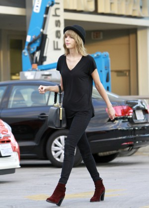 Taylor Swift in Black Outfit in LA