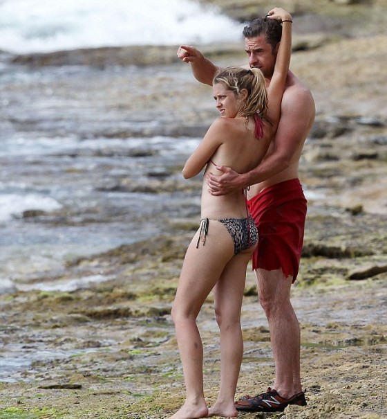 Teresa Palmer - Bikini at a beach in Hawaii