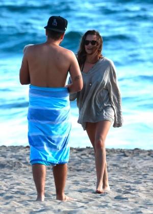 Teresa Palmer Hot Bikini: Malibu 2014 -17
