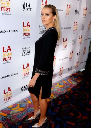 Teresa Palmer in short black dress-16