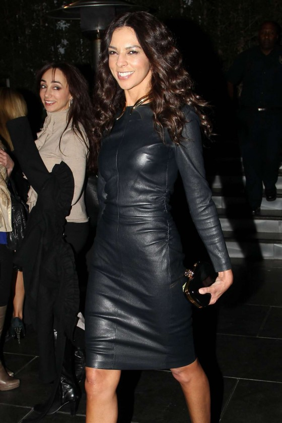 Terri Seymour - In a leather dress at opening of RivaBella