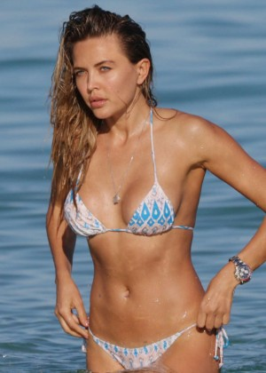 Tetyana Veryovkina in Bikini on the Beach in Miami