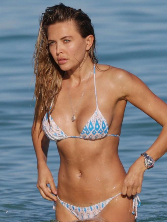 Tetyana Veryovkina in Bikini on the Beach in Miami