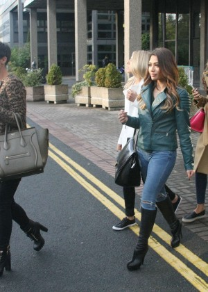 The Saturdays at RTE TV Studios in Dublin