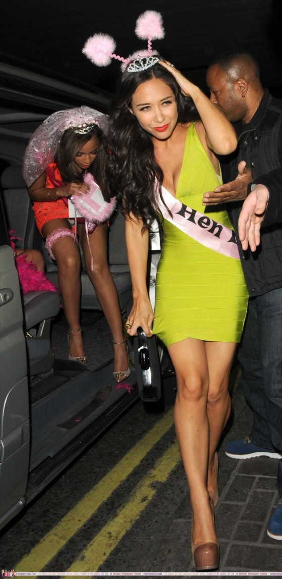 The Saturdays - Celebrating Rochelle Wiseman's Hen Night at the Sanderson Hotel in London