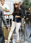 Tiffani Thiessen - at JFK Airport in NY