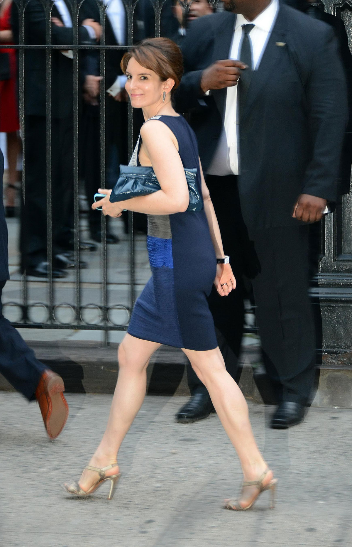 tina fey at alec baldwin and hilaria thomas wedding in ny