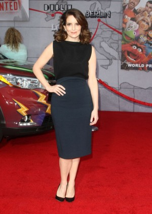 Tina Fey: Muppets Most Wanted Premiere -05