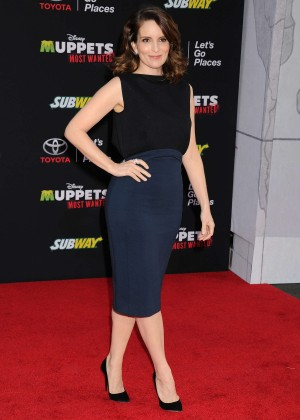 Tina Fey: Muppets Most Wanted Premiere -06