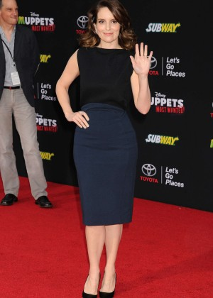 Tina Fey: Muppets Most Wanted Premiere -08