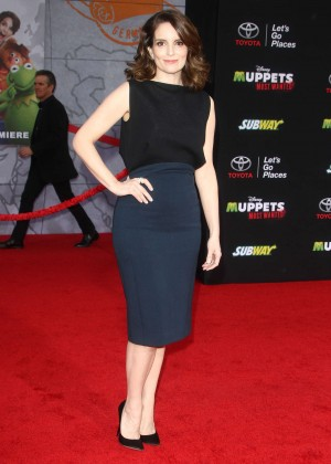 Tina Fey: Muppets Most Wanted Premiere -09