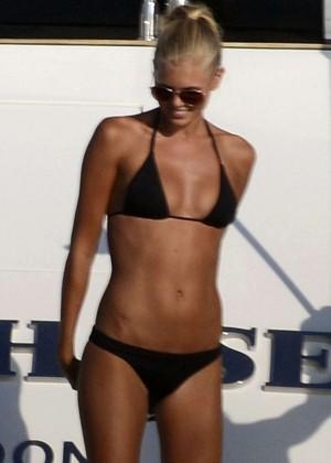 Toni Garrn Bikini Candids on a Yacht in Ibiza