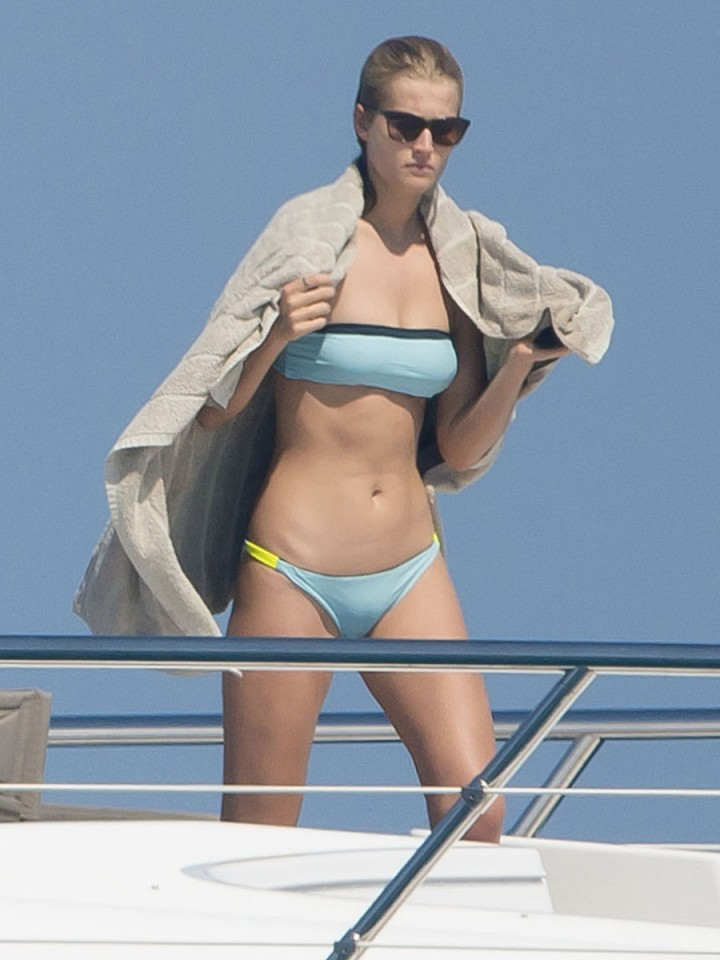 Toni Garrn in a Bikini in Saint Tropez