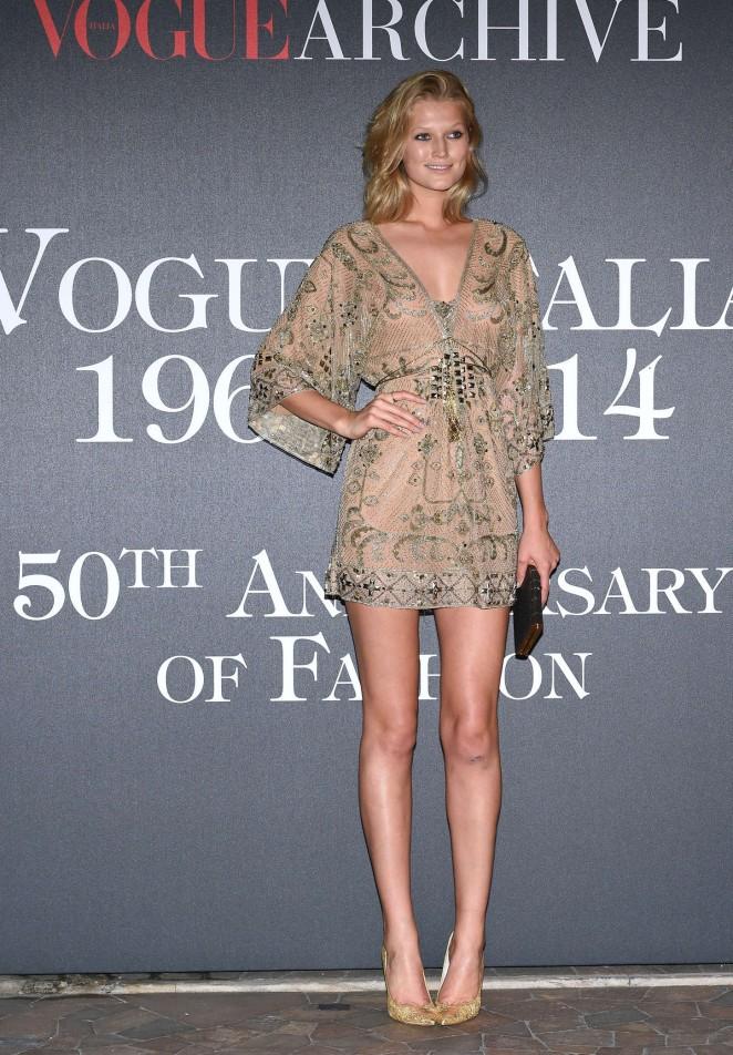 Toni Garrn - Vogue Italia 50th Anniversary at Piazza Castello in Italy