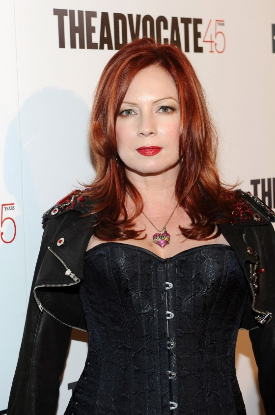 Traci Lords cleavage in corset at The Advocat 45th Anniversary