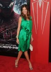 Tricia Helfer - in a green dress at The Amazing Spider Man Premiere-05