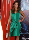 Tricia Helfer - in a green dress at The Amazing Spider Man Premiere-07