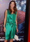 Tricia Helfer - in a green dress at The Amazing Spider Man Premiere-09