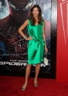 Tricia Helfer - in a green dress at The Amazing Spider Man Premiere-10