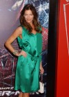 Tricia Helfer - in a green dress at The Amazing Spider Man Premiere-23