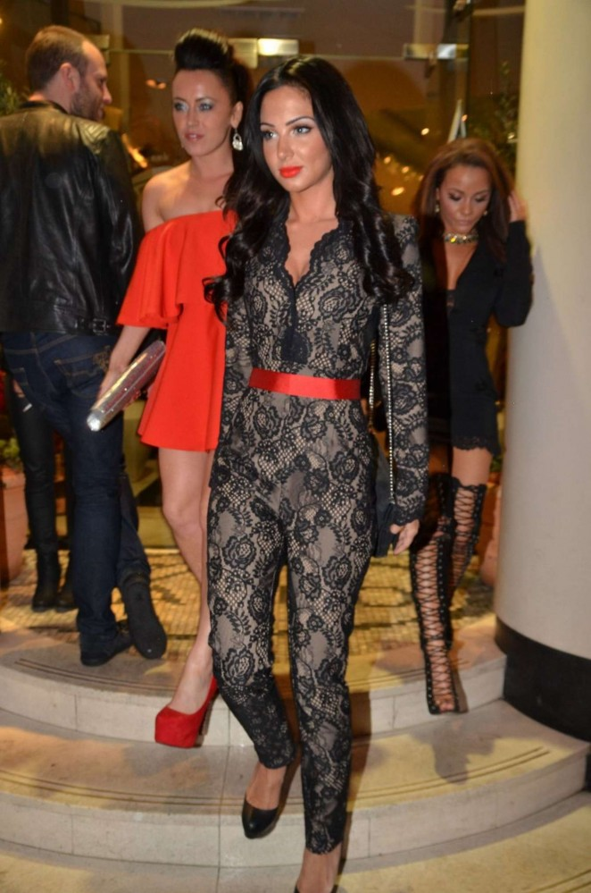 Tulisa Contostavlos in Jumpsuit Out in Manchester