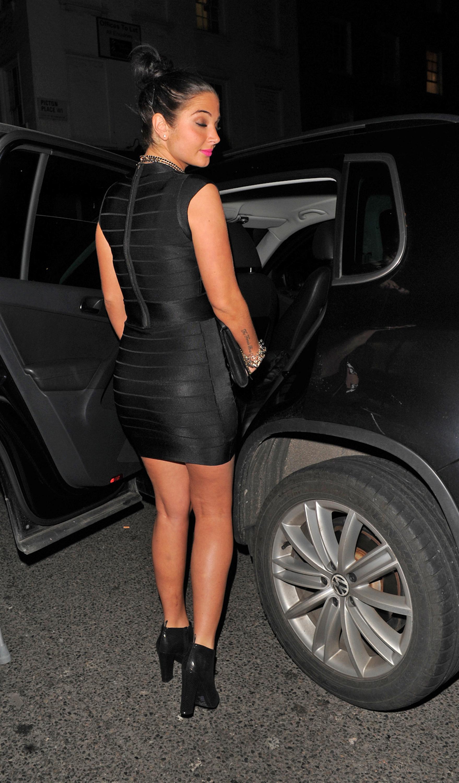 Tulisa Contostavlos In Tight Black Short Dress 24 Gotceleb
