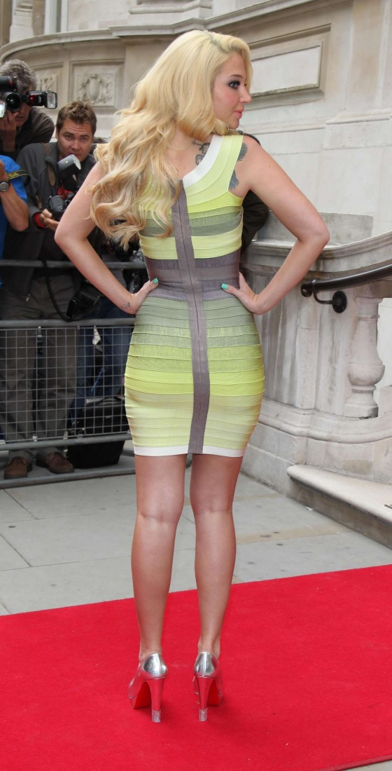 Tulisa Contostavlos hot in tight dress-15
