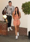 Tulisa Contostavlos cleavage in tight mini dress-03