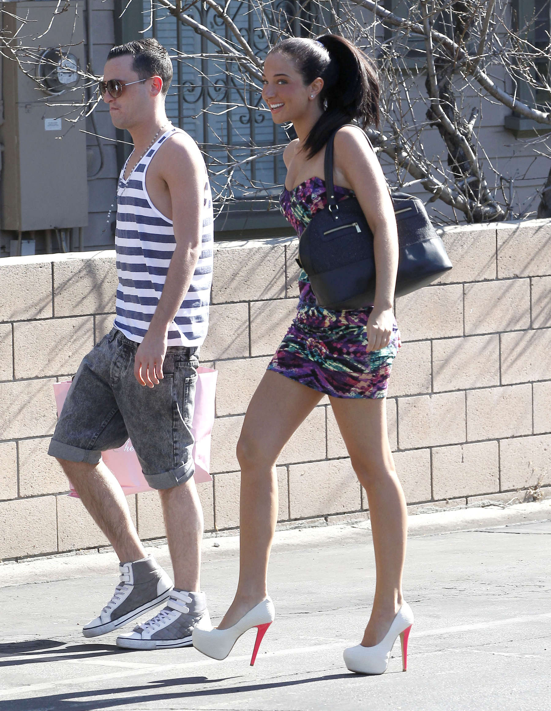 Tulisa Contostavlos 2012 : Tulisa Contostavlos – Leggy and cleavage in tight short dress in Los Angeles-10