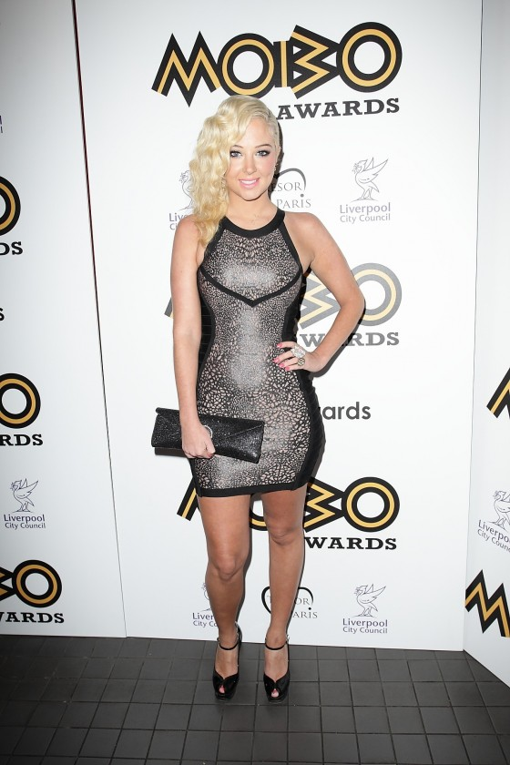 Tulisa Contostavlos at MOBO Awards in London