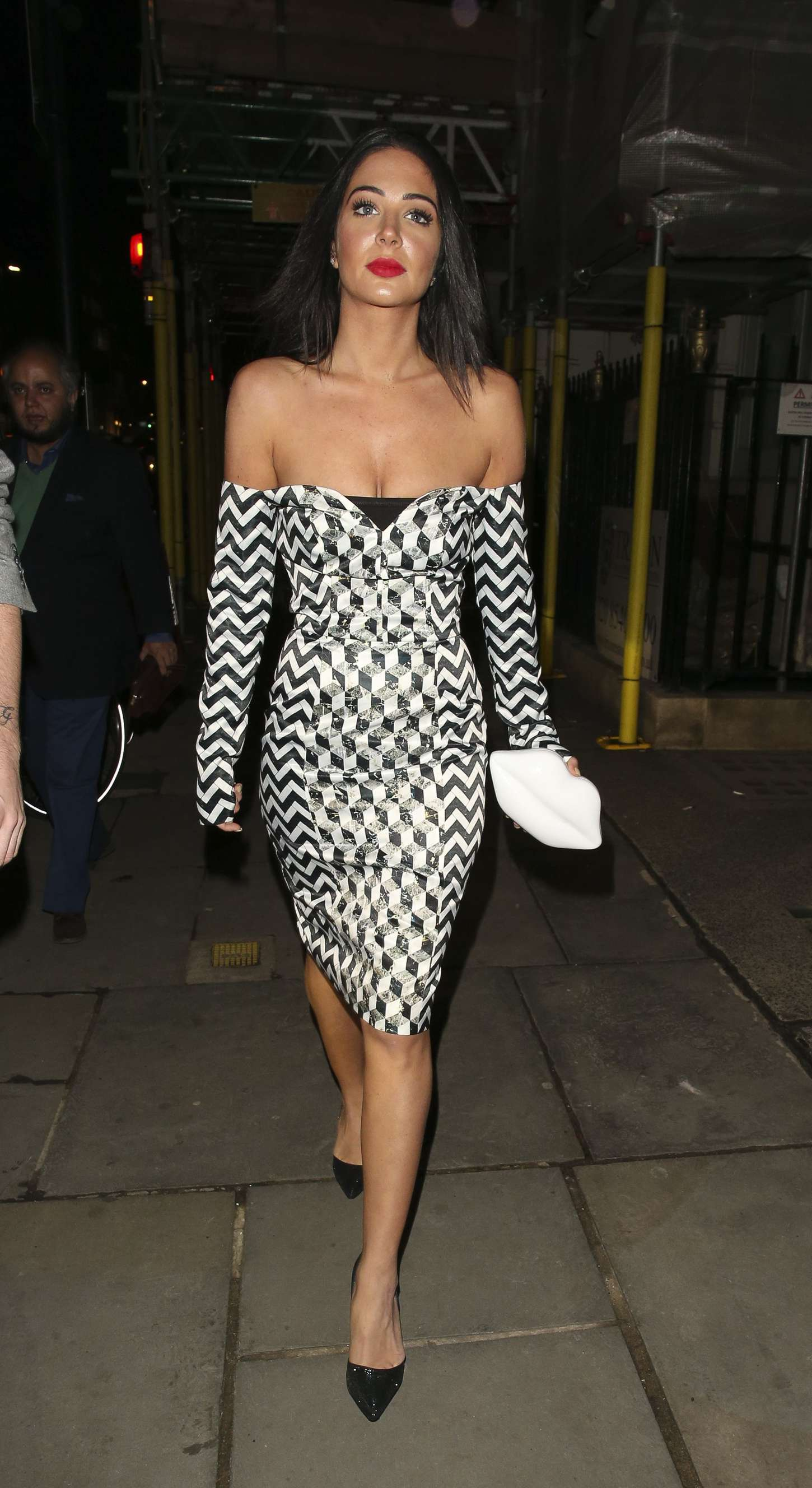 Tulisa Contostavlos at Professor Jonathan Shalit's OBE Party in London