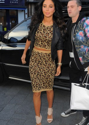 Tulisa Contostavlos in Tight Dress at Capital and Global Radio in London