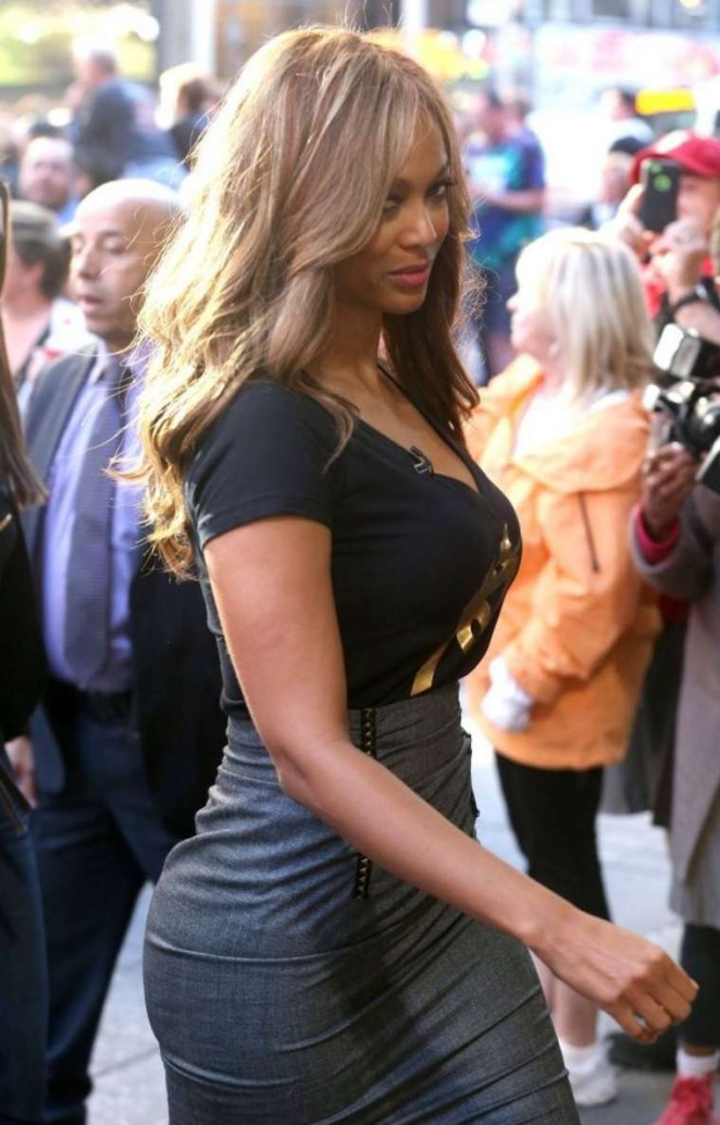 "Tyra Banks On the set of ""Good Morning America"" in NYC"
