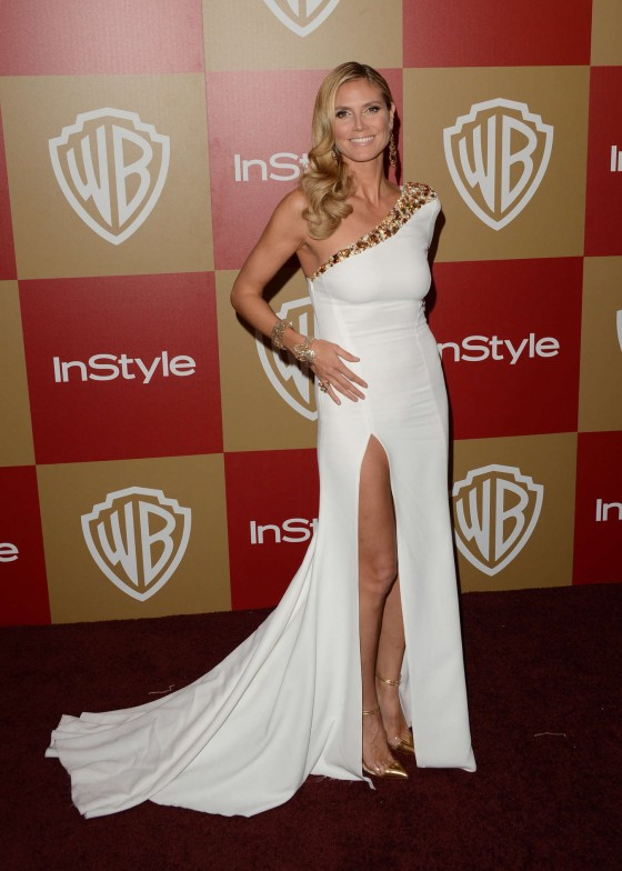 Heidi Klum - Warner Bros InStyle Golden Globes Party in Beverly Hills