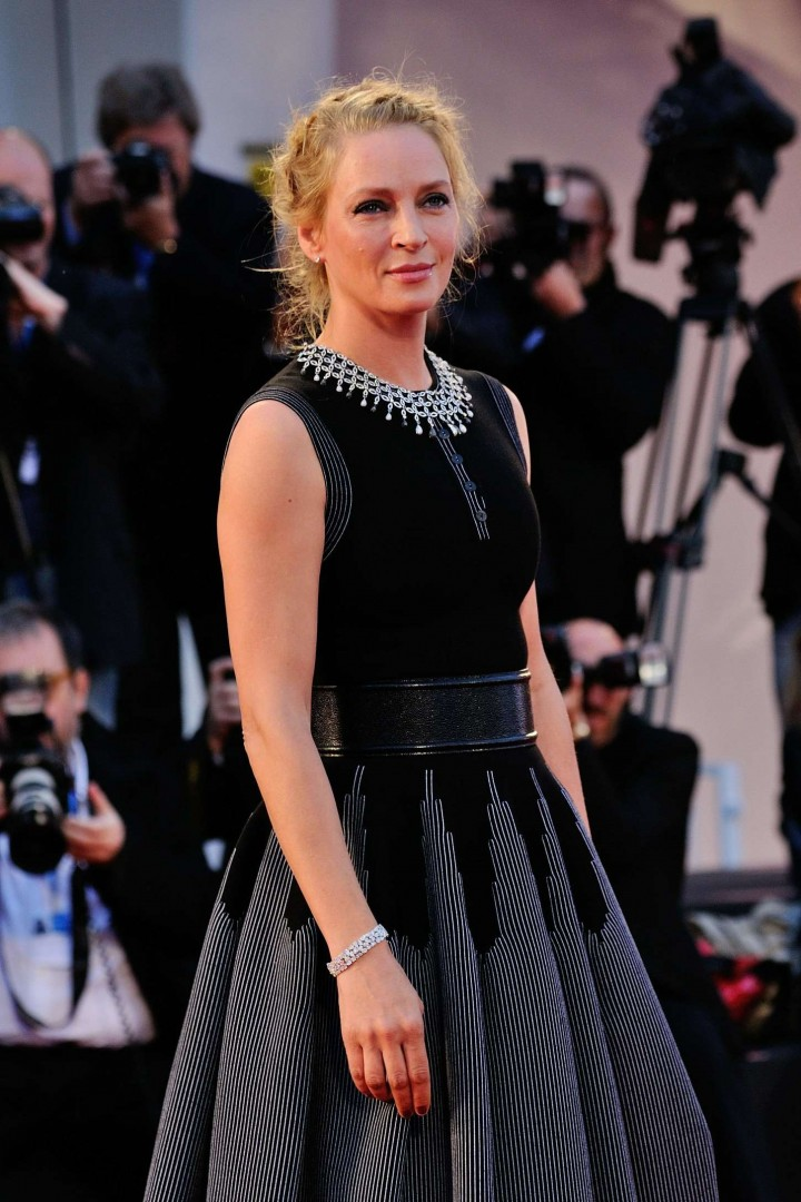 "Uma Thurman - ""Nymphomaniac: Volume II"" Premiere & Photocall at 71st Venice Film Festival"