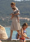 Uma Thurman - Wearing bikini at Club 55 in Saint Tropez -10