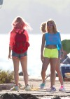 Vanessa Hudgens and Ashley Benson Filming Spring Breakers-01