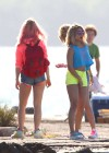 Vanessa Hudgens and Ashley Benson Filming Spring Breakers-06