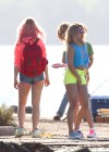 Vanessa Hudgens and Ashley Benson Filming Spring Breakers-07