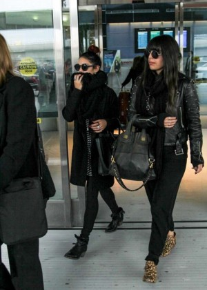 Vanessa Hudgens - Arrives at JFK Airport in NYC