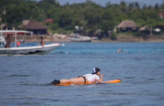 Vanessa Hudgens and Ashley Greene – Wearing bikinis at Oakley Bali in Benoa -14