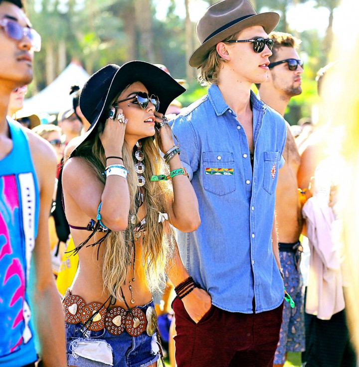 Vanessa Hudgens in Shorts: 2014 Coachella -04