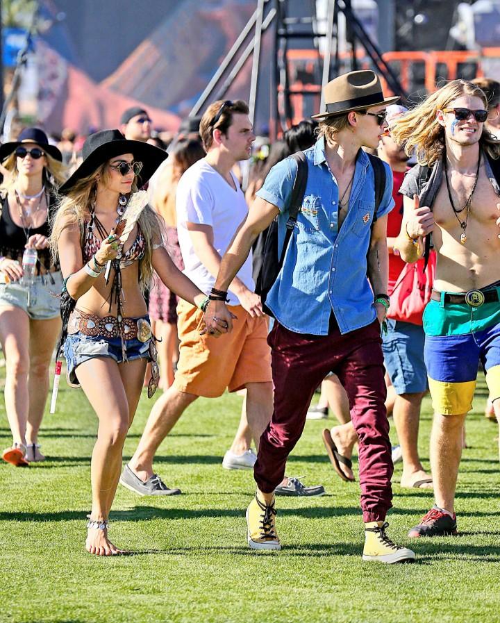 Vanessa Hudgens in Shorts: 2014 Coachella -07