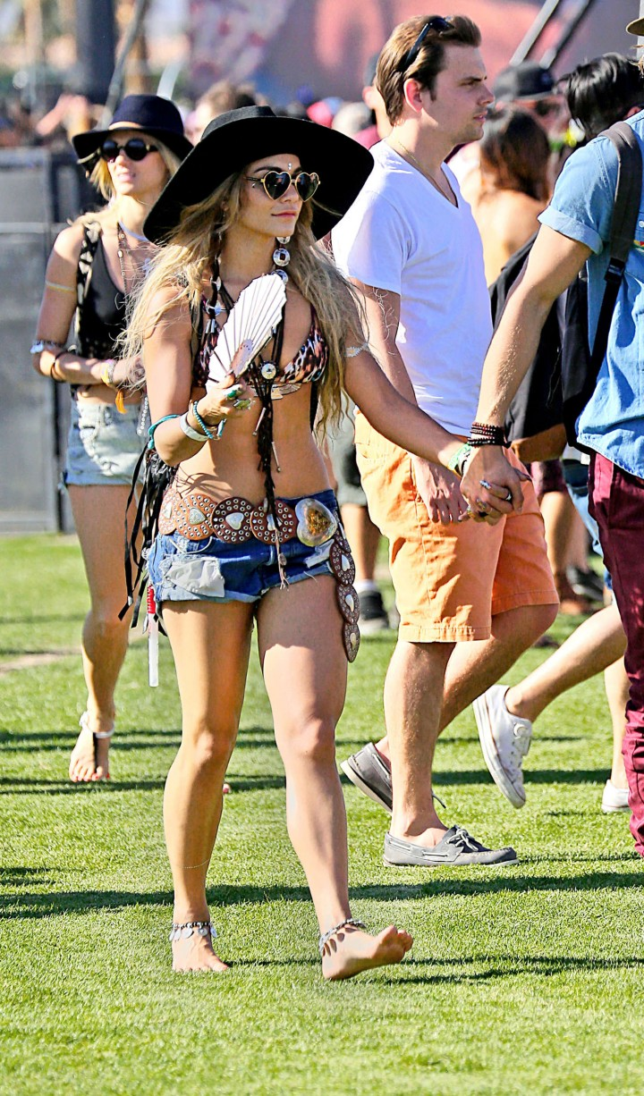 Vanessa Hudgens in Shorts: 2014 Coachella -08